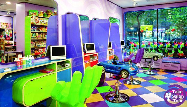 architecture d 39 int rieur salon de coiffure pour enfants. Black Bedroom Furniture Sets. Home Design Ideas