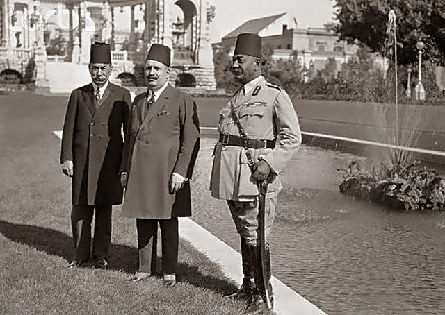 H.M. King Fouad In The Garden Of Abdine Palace - September 1922.