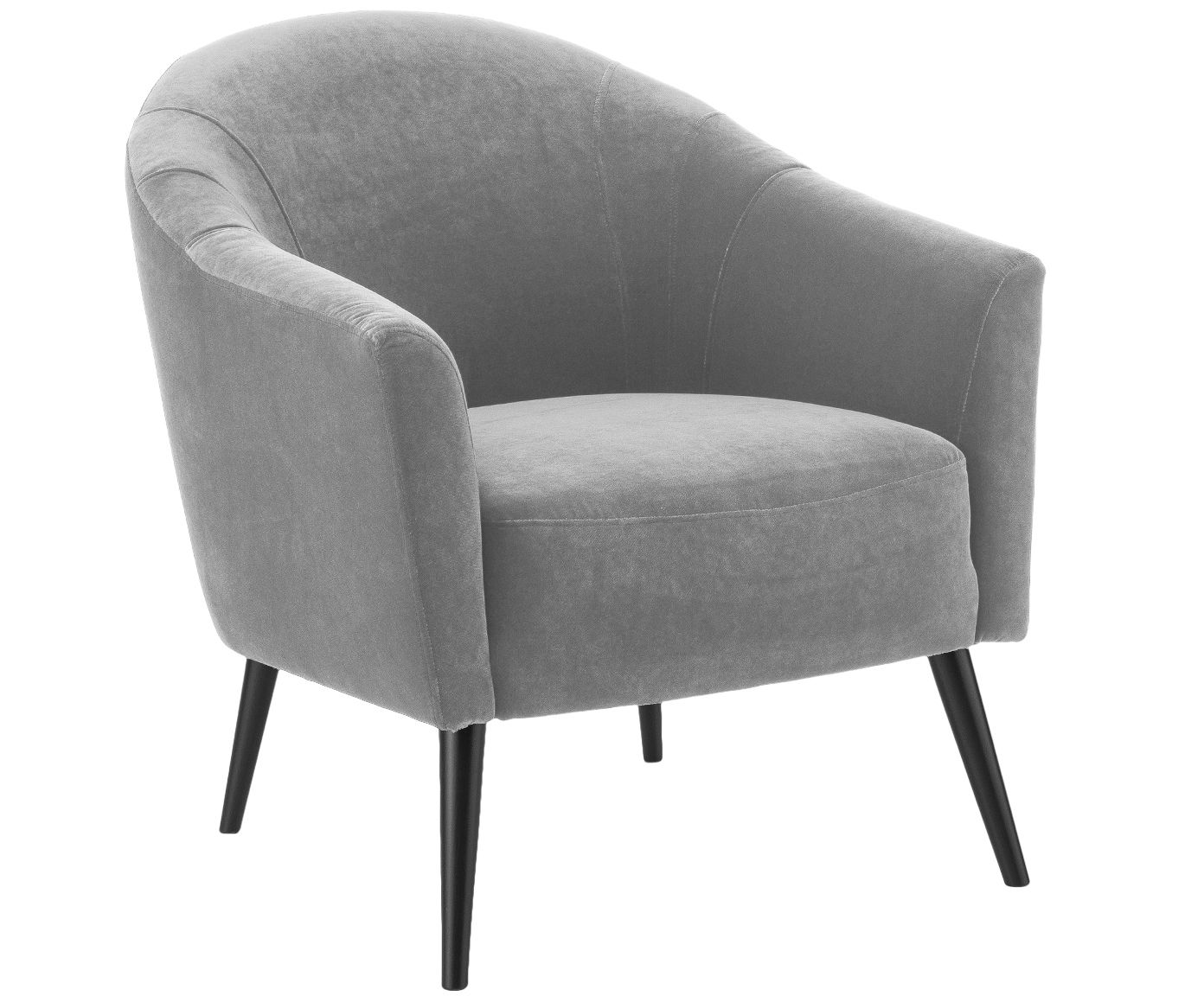 Samt Sessel Pascall In Grau Aus Samt Von Westwing Collection Online Kaufen Gratis Versand Ab 30 100 Tage Ruckgabe Westwin Samt Sessel Cocktailsessel Sessel