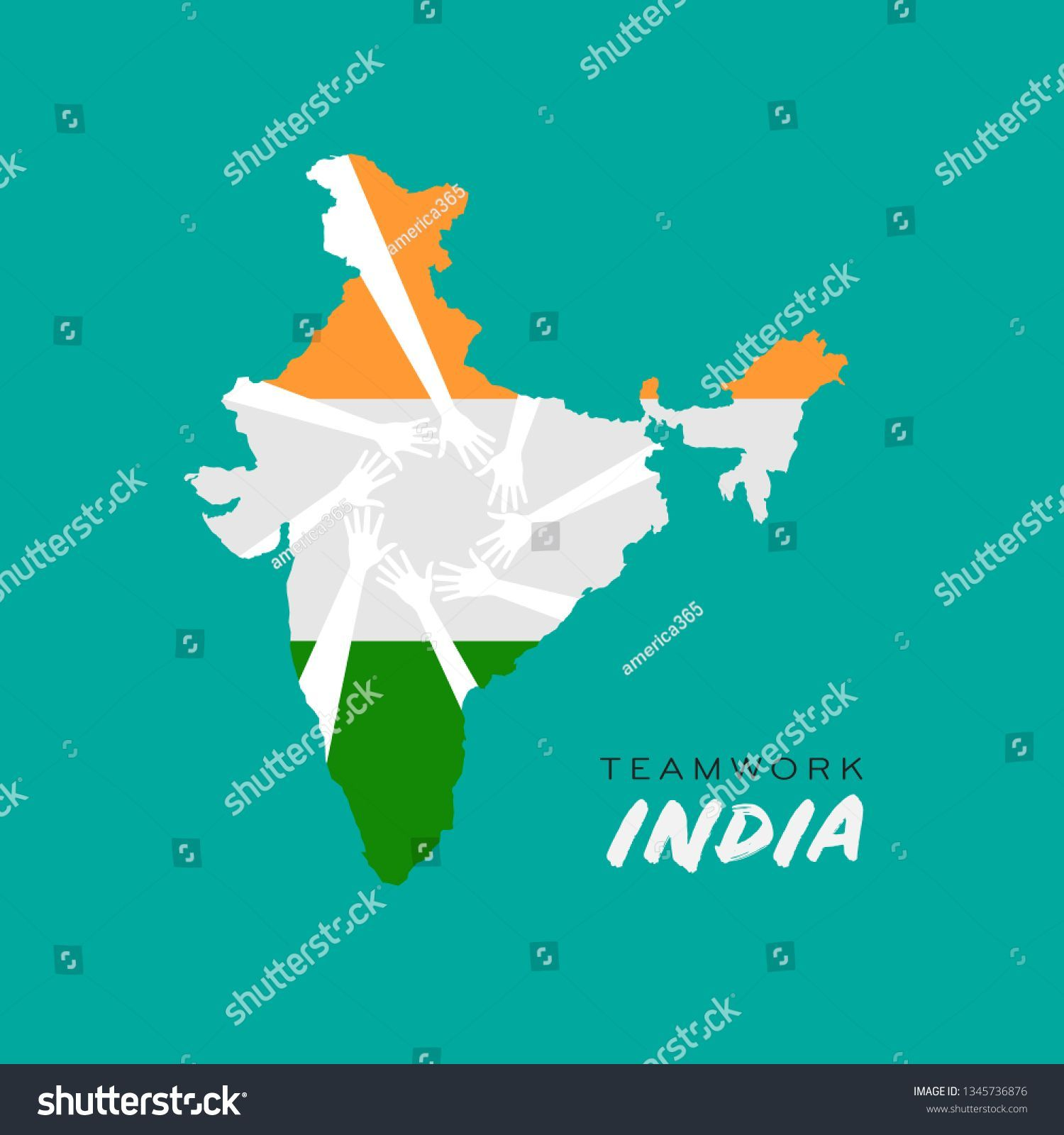 Teamwork Hands in India Map Logo logodesign logo logos