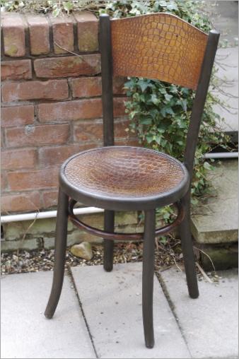 Fischel Bentwood Chair Hand Painted In Annie Sloan Graphite Chalk