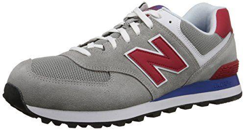 Mens Shoes New Balance Classics 574 - Core Plus Grey/Red