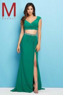 Emerald Two Piece Prom Dress Mac Duggal 65509l Flash 2018