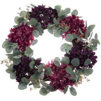 Photo of Hydrangea & eucalyptus wreath