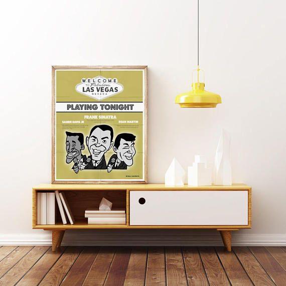 The RAT PACK Frank Sinatra Dean Martin & Sammi Davis JR. | Etsy ...