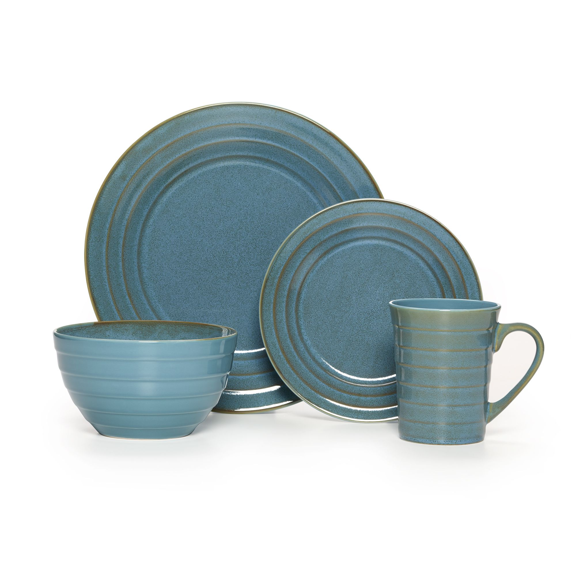 Bring cool refreshing color to the table with the beautiful Athena dinnerware set. Crafted with durable dishwasher-safe stoneware this sturdy 16-piece ...  sc 1 st  Pinterest & Bring cool refreshing color to the table with the beautiful Athena ...
