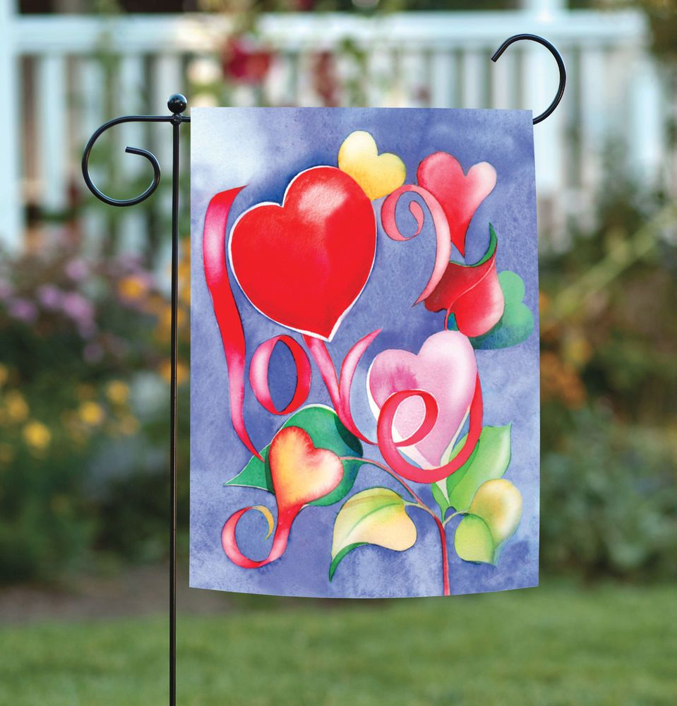 Details About Toland Love 12 5 X 18 Red Flower Heart Spring