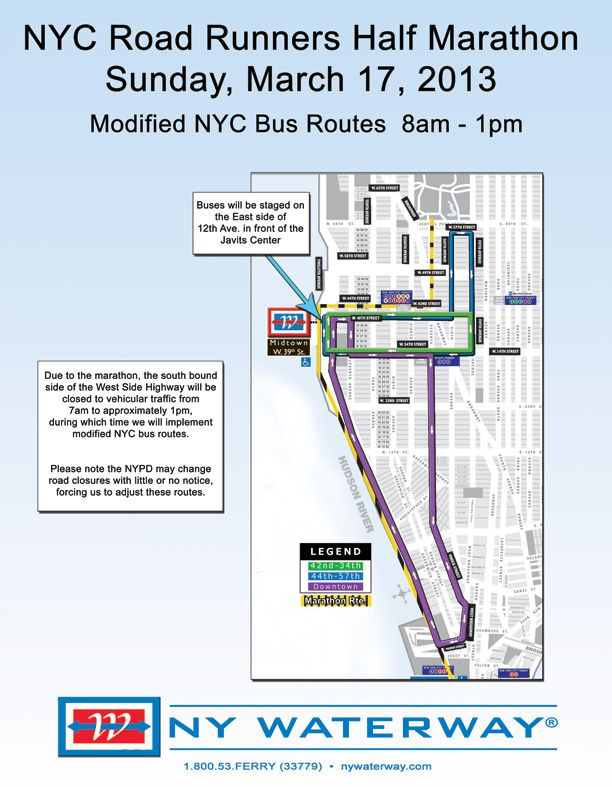 Road Runners Race Sunday March 17th Modified Bus Routes