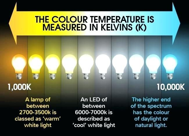 Lyveco Kelvin Colour Temperature Guide For Led Lamps Which