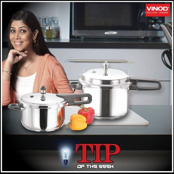 #Vinod #TipoftheWeek: When cleaning stainless #pressurecooker, always wipe in the direction of the grain to avoid scratching & keep those appliances shining bright always!