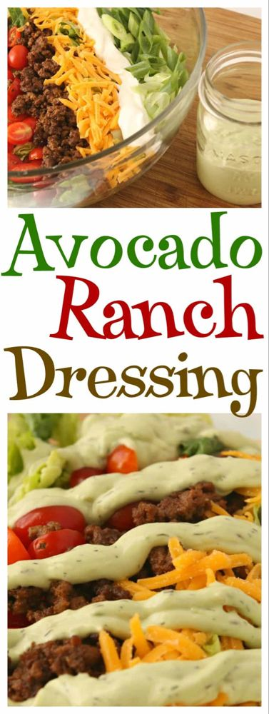 Easy and DElicious Avocado Ranch Dressing