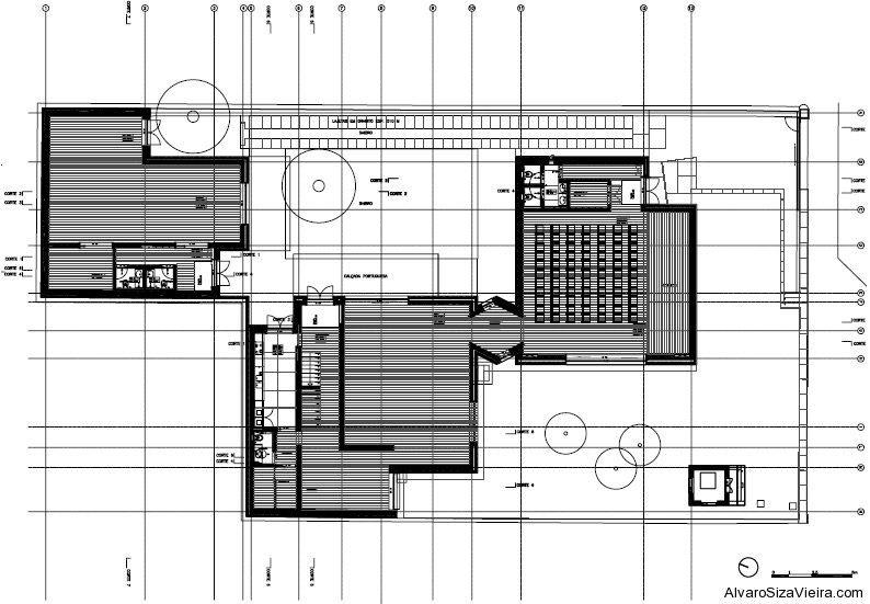 (TP1) Casa Armanda Passos [planta piso.0] - Catarina Mota & Letícia Vieira