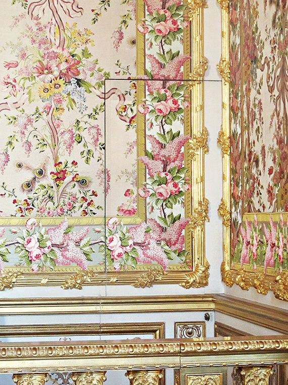 Marie antoinette 39 s bedchamber at versailles 8x10 by for Chambre 8x10