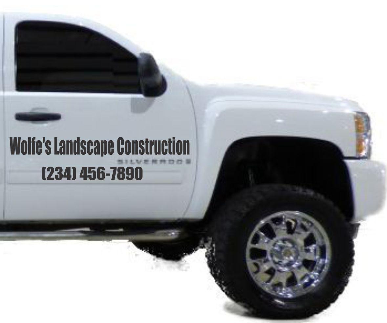 Thanks Wolfes Landscape Construction For Your Vinyl Door Decal - Custom vinyl decals automotive