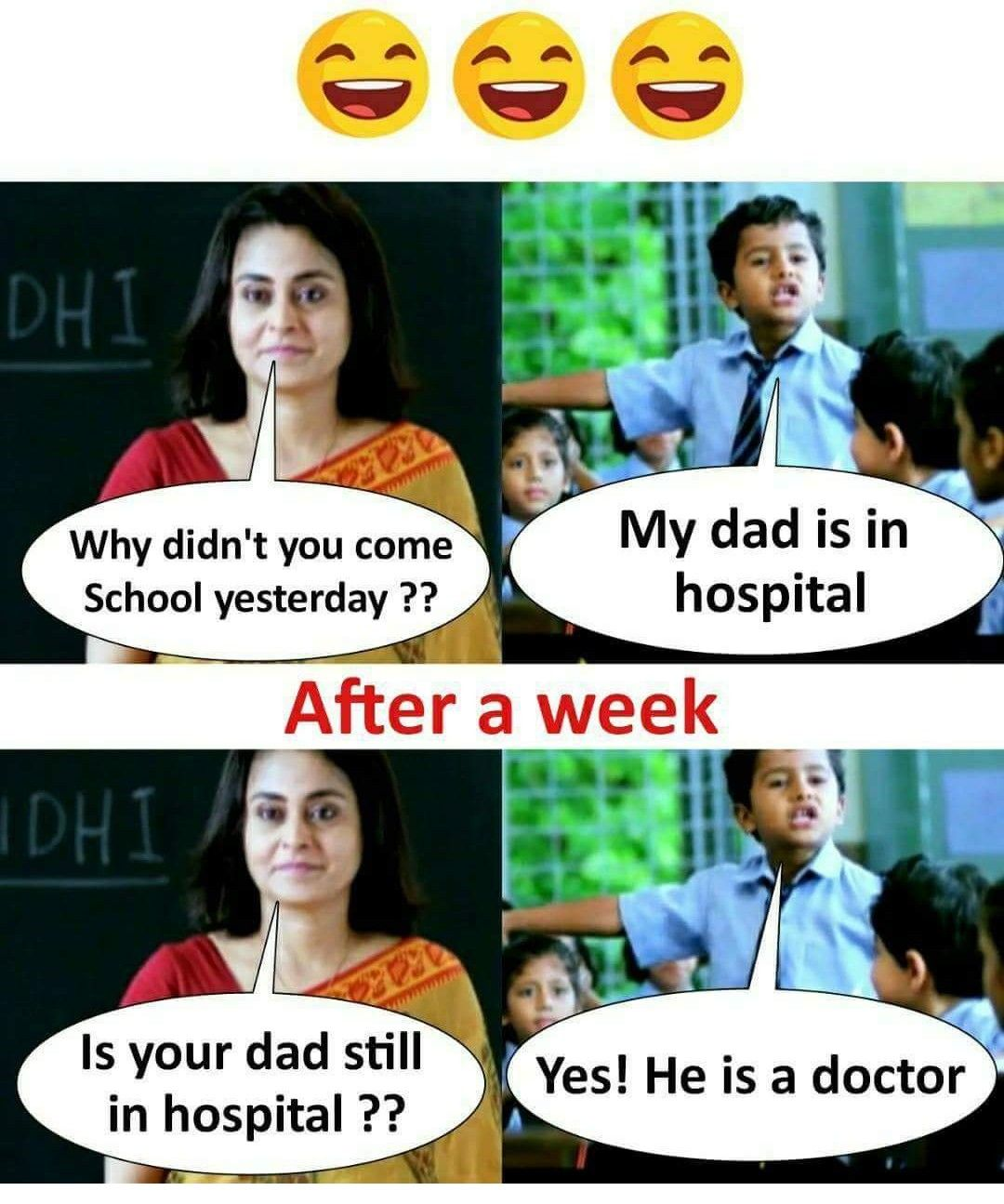 Meme Funny Boy Teacher Hospital Dad School Haha Fun