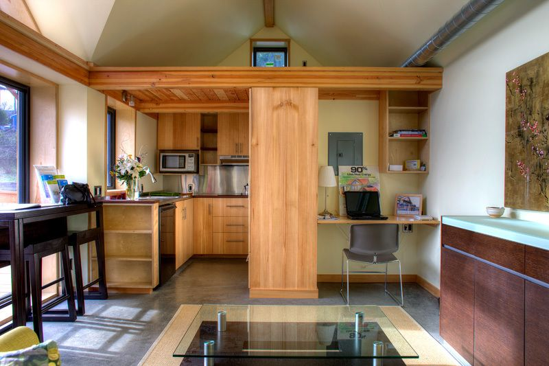 The Mini-B, a tiny house built to the Passive House standard for