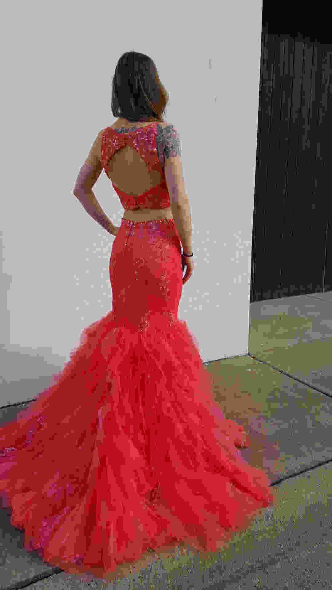 Shop bridal cottage keyhole back two piece prom dress amazing