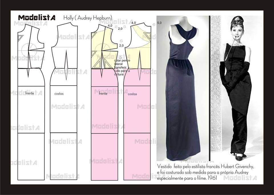 Vestido Holly (Audrey Hepburn). | Wykroje Sukienek | Pinterest ...