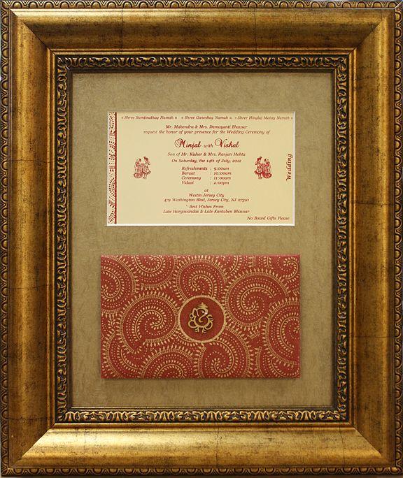 Custom Framed Wedding Invitation Framed Wedding Invitations Wedding Frames Invitation Frames