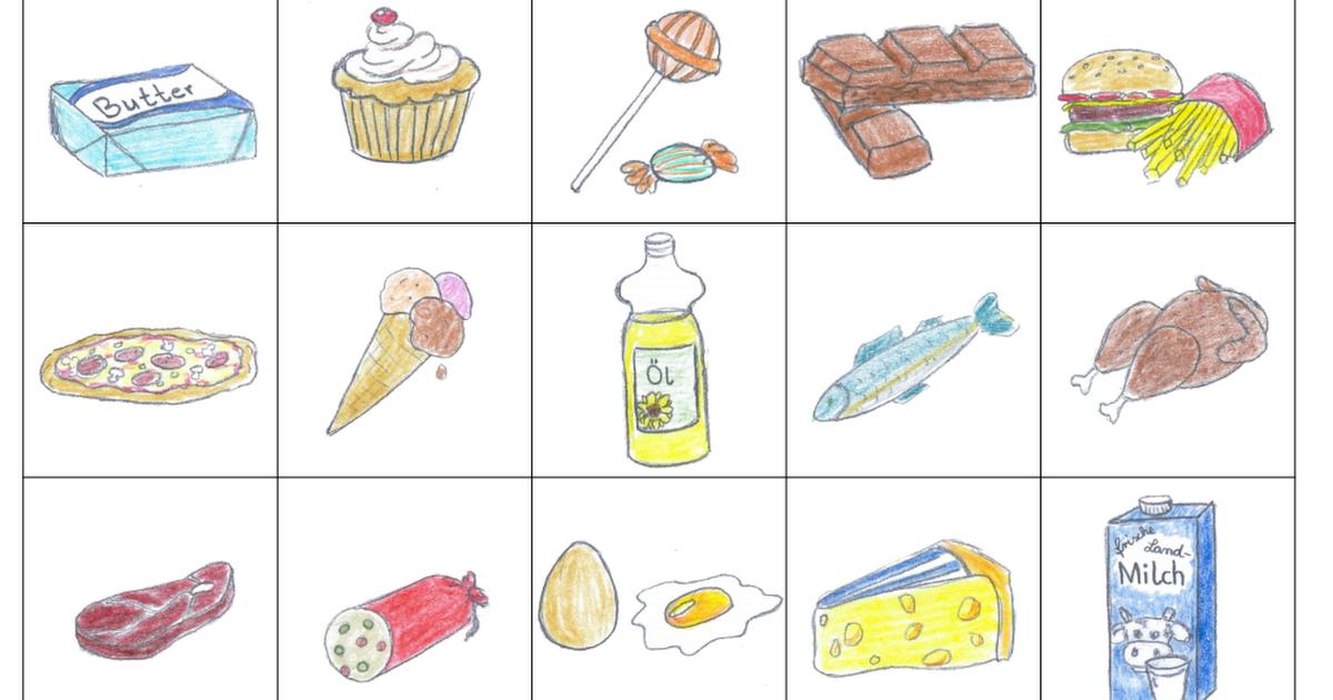 Lebensmittel-Memory.pdf | Ernährung | Pinterest | Ernährung, Gesunde ...