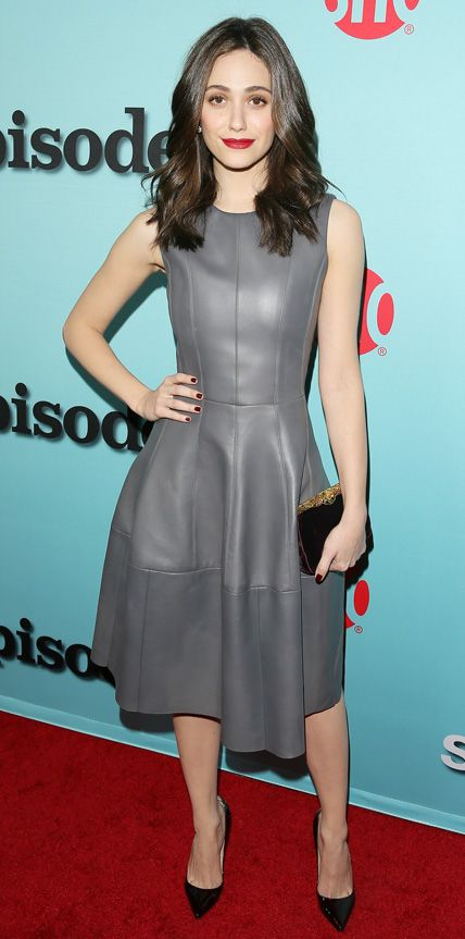 Look of the Day - January 6, 2015 - Emmy Rossum in J. Mendel from #InStyle