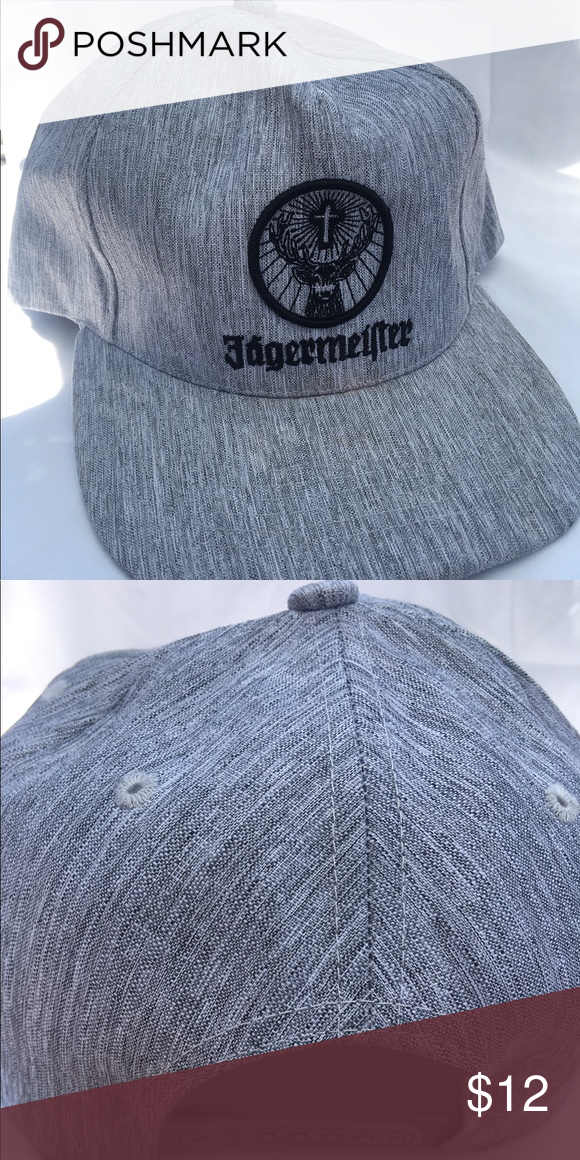 3a99feef571ab Jagermeister hat Grey and black Jagermeister SnapBack hat. Slightly used  but still good condition. jagermeister Accessories Hats