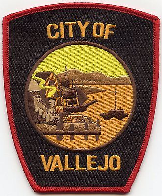 Vallejo California Ca Police Patch Police Patches Police Patches