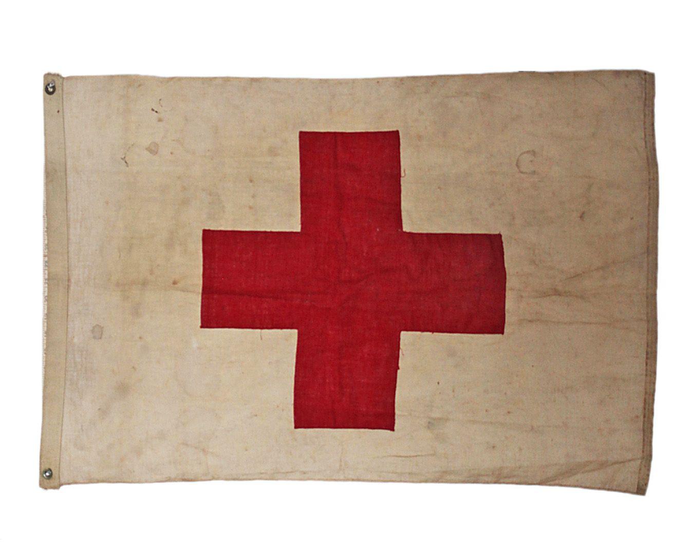 Vintage Red Cross Flag Via Vandm Com Red Cross Cross Flag Ghost In The Machine