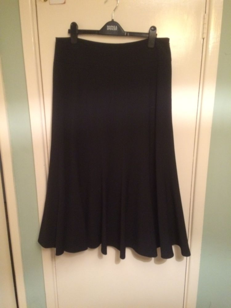 Size 6 Marks And Spencer Clothing, Shoes & Accessories Bnwt Lovely Ladies Black Pleated Kilt Style Skirt