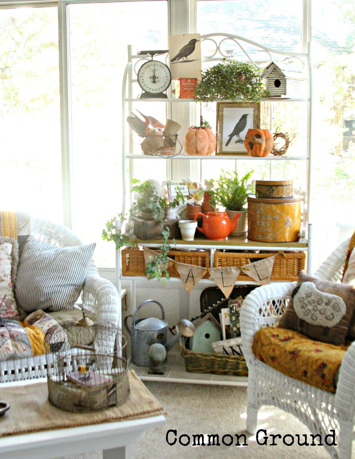 Fall On The Sunporch With Images French Country House Bakers