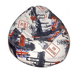 pouf deco anglaise pas cher pouf assise confortable en micro bille cadeau noel anniversaire monument londres london, oct. 2011
