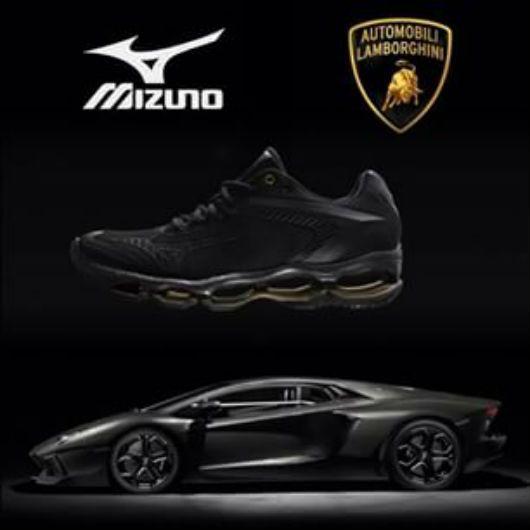 Tênis Mizuno tem design inspirado no do Aventador +http://brml.co/1HxEsPM