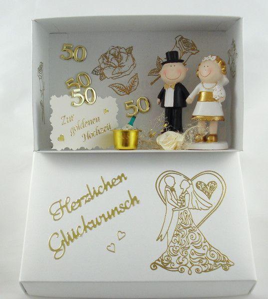 Gutschein Zur Goldenen Hochzeit Geldgeschenk Von A Z Bastelshop