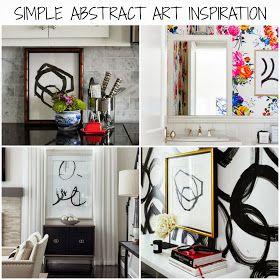 Rosa Beltran Design {Blog}: DIY WALL ART SERIES: MODERN ABSTRACTS