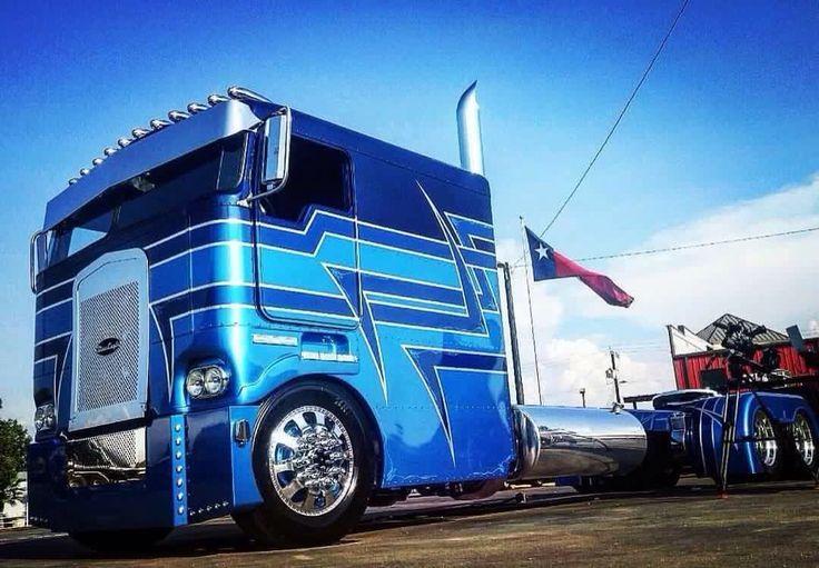 Beautiful Custom Cab Over Kw Trucks Pinterest Beautiful
