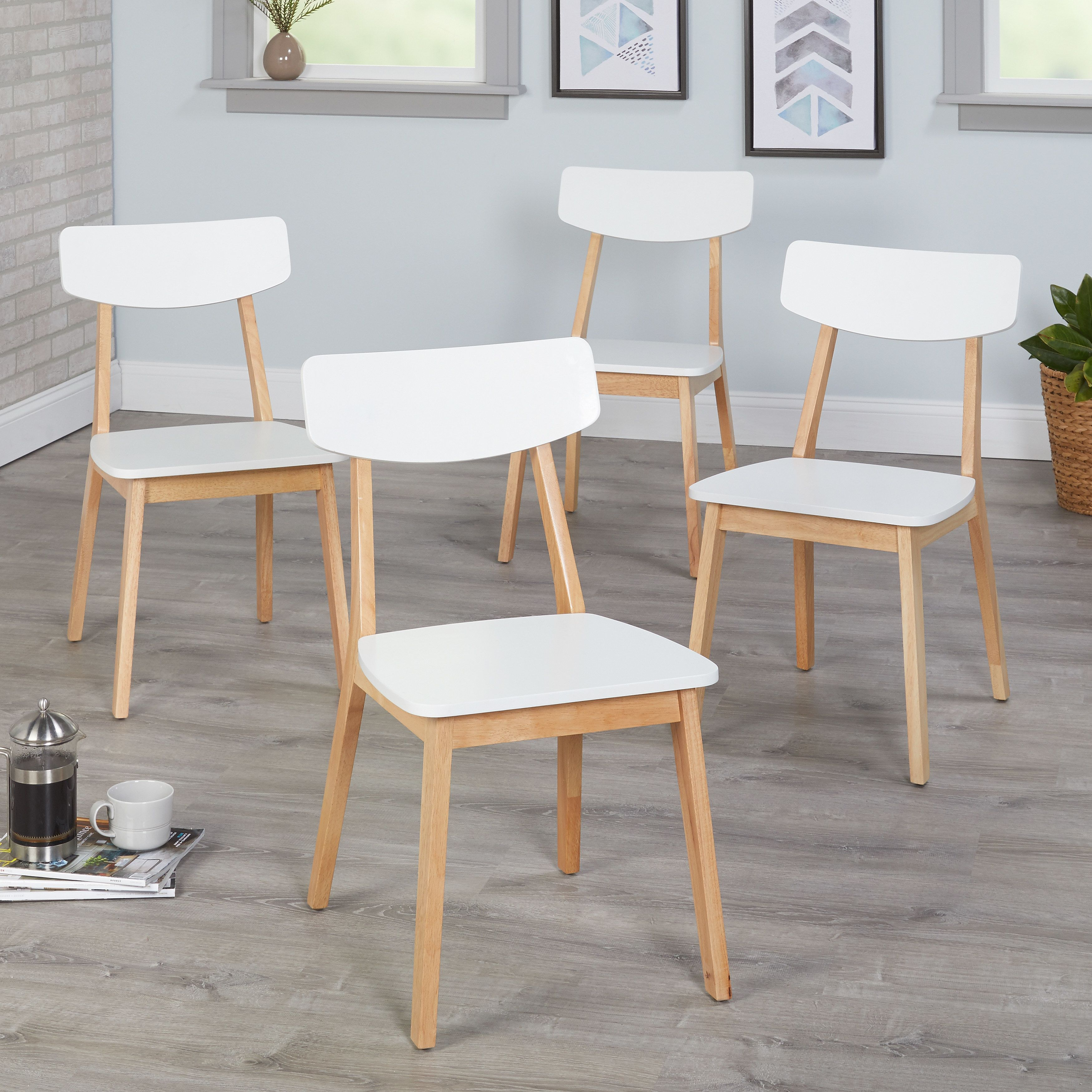 Excellent Simple Living Modern Dining Chairs Set Of 4 Modern Dining Creativecarmelina Interior Chair Design Creativecarmelinacom