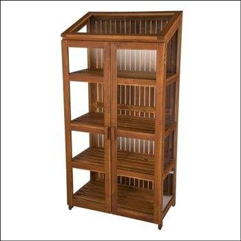Armoire serre, en bois - L.80xl.45xH.160cm | Deco/ H ...