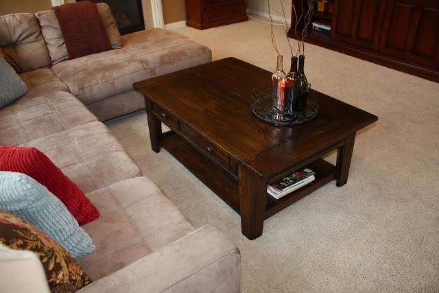 Refinished Coffee Table Brown Living Room Coffee Table Floor