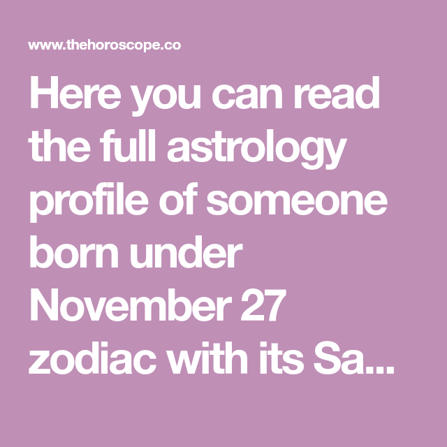 november 27 love astrology