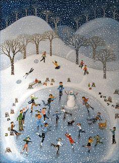 Skating Party by Diana Card