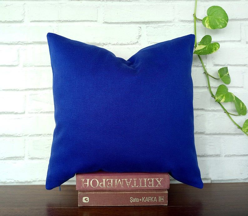 Fast shippingAzure Blue Coton Pillow