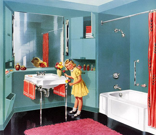 This is my tub 1950s bathroom | ... Archive » Design ...