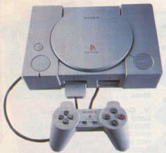 Latest in late 1990's Computer Game Systems Playstation with Controller