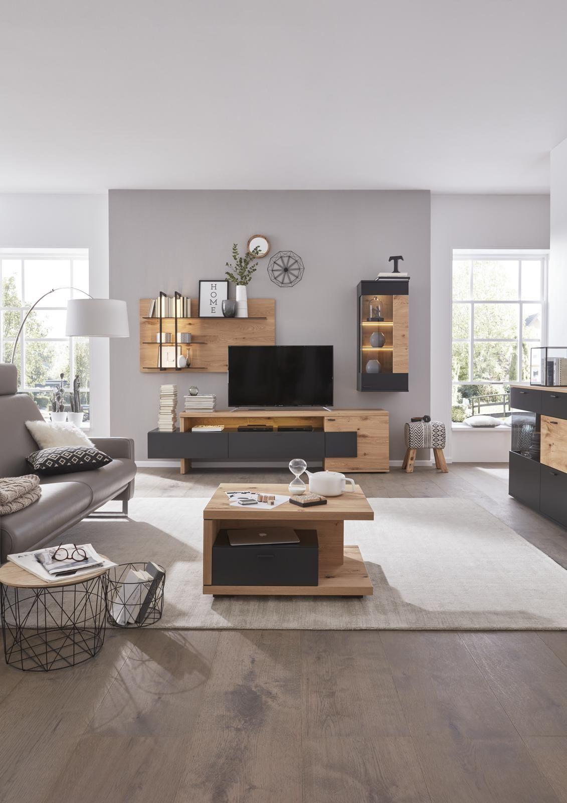 wohnzimmermoebel holz schwarz  minimalistisches und