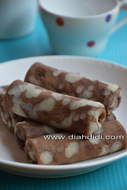 Diah Didi S Kitchen Panekuk Belang Isi Pisang Coklat Panekuk Makanan Dan Minuman Makanan Manis