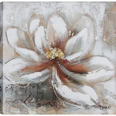 BEAUTIFUL WHITE BLOSSOM FLOWERS CANVAS WALL ART PRINT PICTURE READY TO HANG
