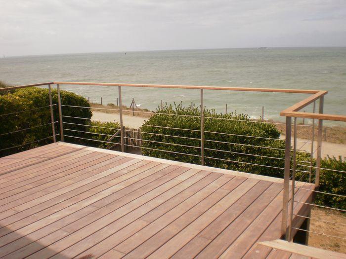 terrasse teck rampe verre Recherche Google Terrasse Pinterest Teck, Terrasses et Verre # Barriere Terrasse Bois