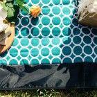 Picnic Blanket Pixie Rugs Mod Teal Circle
