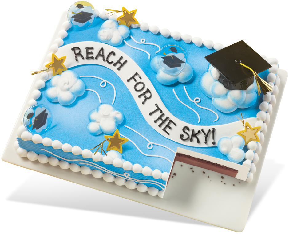 Dq 174 Sheet Cakes Graduation Cake Reach For The Sky In