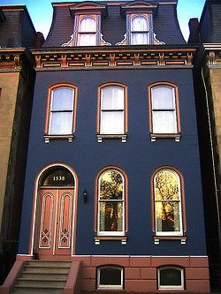 Street Style The Perfect Color Blue Exterior Design House Exterior Architecture